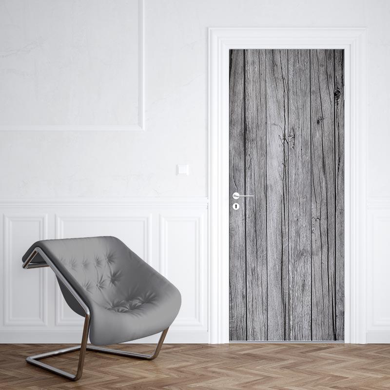 Deursticker Oude houten planken 2