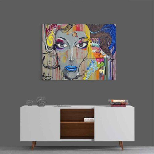 Canvas Woman modern art 2