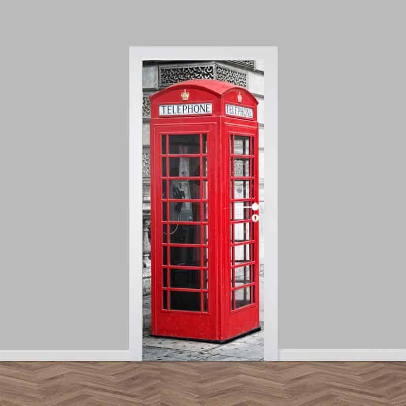Deursticker Engelse telefooncel