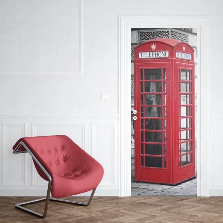 Deursticker Engelse telefooncel 1