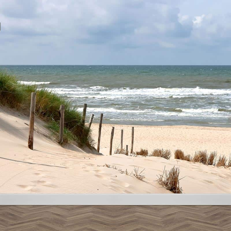 Fotobehang Zee strand en duinen
