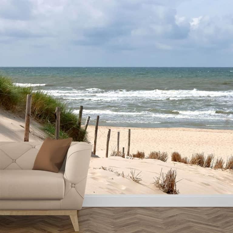 Fotobehang Zee strand en duinen 1