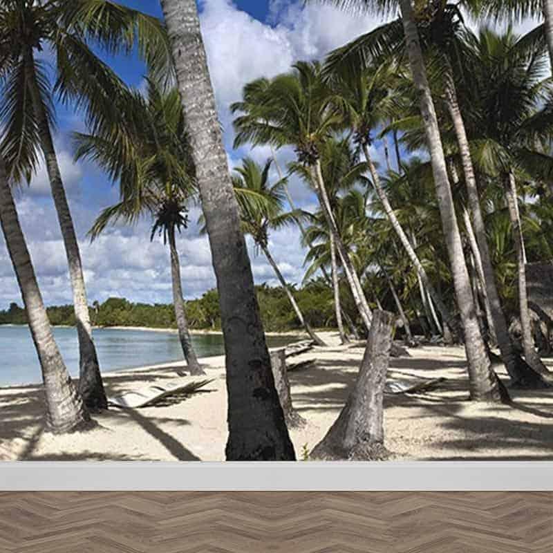 Fotobehang palmbomen op het strand
