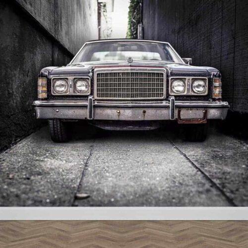 Fotobehang Ouderwetse auto