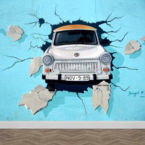 Fotobehang Graffiti auto