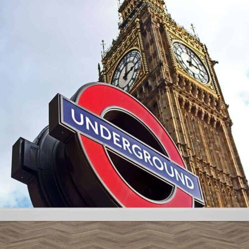 Fotobehang London underground