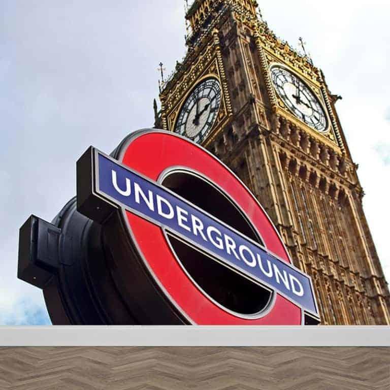 Fotobehang London underground