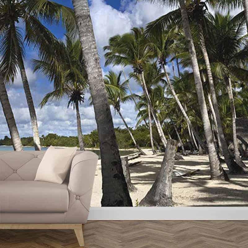 Fotobehang palmbomen op het strand 2