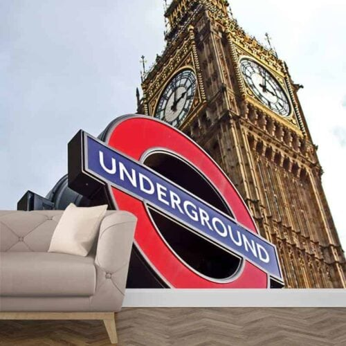 Fotobehang London underground 1