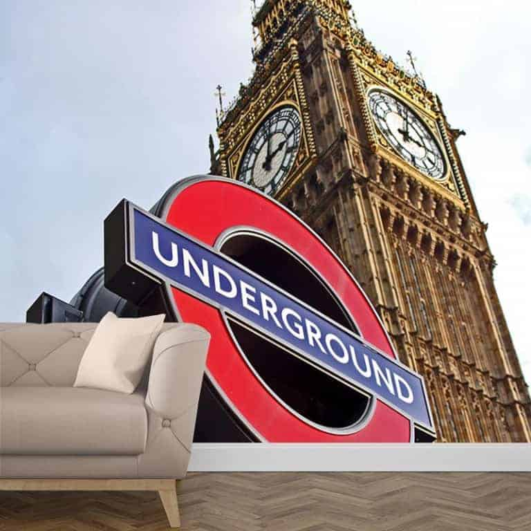 Fotobehang London underground 1