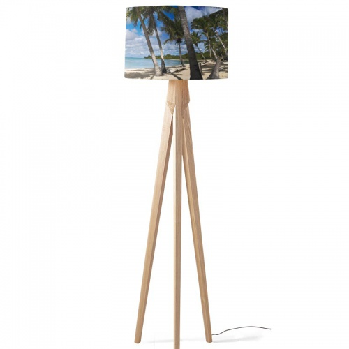 Lampenkap Palmbomen op het strand