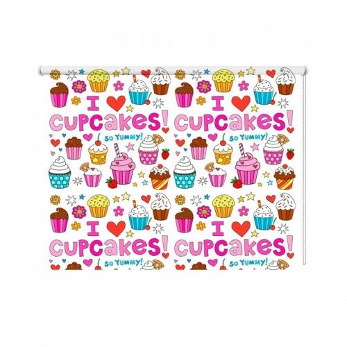 Rolgordijn Cupcakes