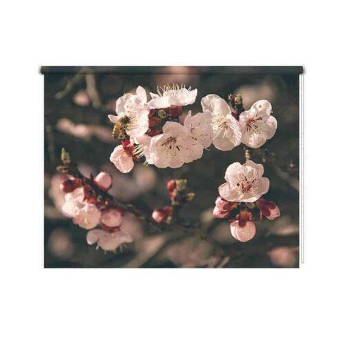 Rolgordijn Roze bloemen