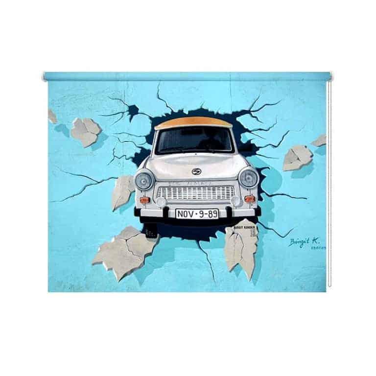 Rolgordijn Graffiti auto