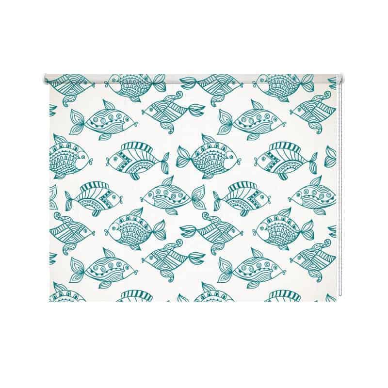 Rolgordijn Vissen illustratie