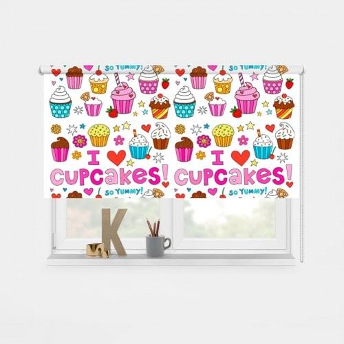 Rolgordijn Cupcakes 1