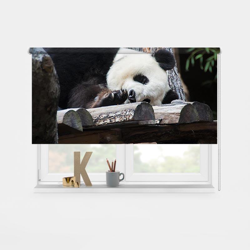 Rolgordijn luie panda 2