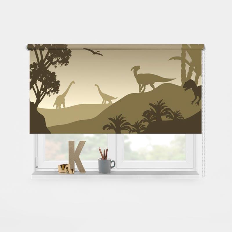Rolgordijn Jurassic landscape 1