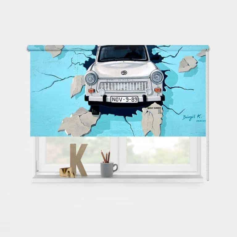 Rolgordijn Graffiti auto 1