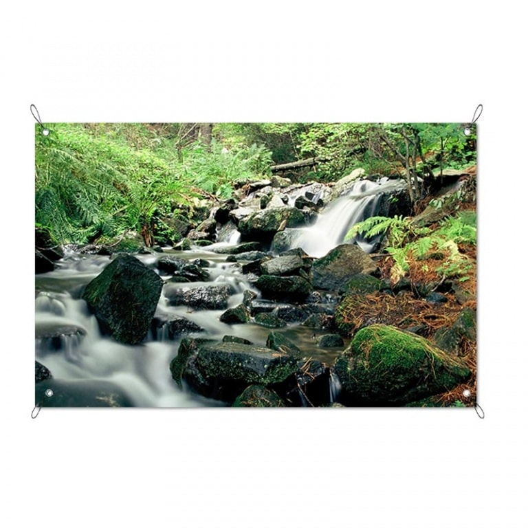 Tuinposter Natuurlijke waterval