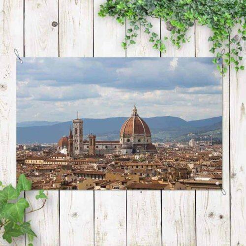 Tuinposter Italiaanse stad 2