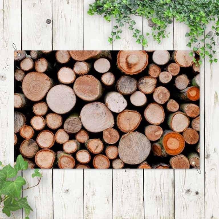 tuinposter boomstammen 1