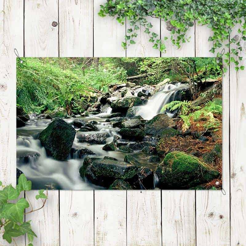 Tuinposter Natuurlijke waterval 2