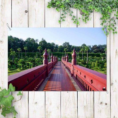 Tuinposter Japanse brug 2