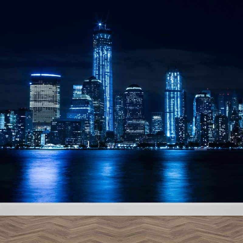 Fotobehang New York By Night Op Maat Gratis Drukproef