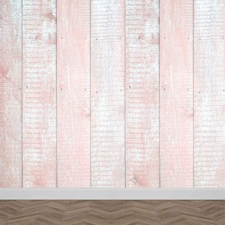 Fotobehang Steigerhout (roze)