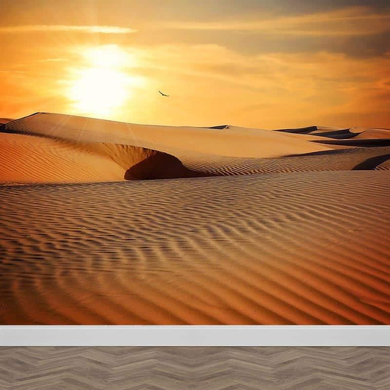 Fotobehang In de woestijn