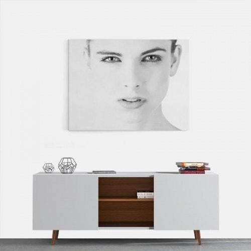 Canvas Vrouw zwartwit 2
