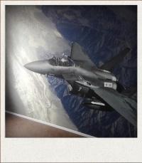 fotobehang straaljager