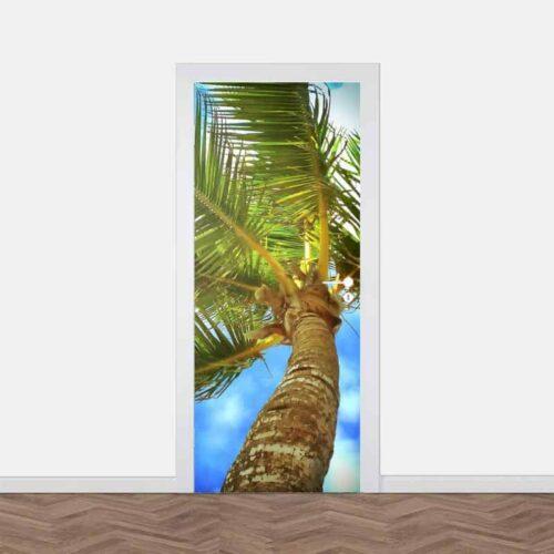 Deursticker Tropische palm