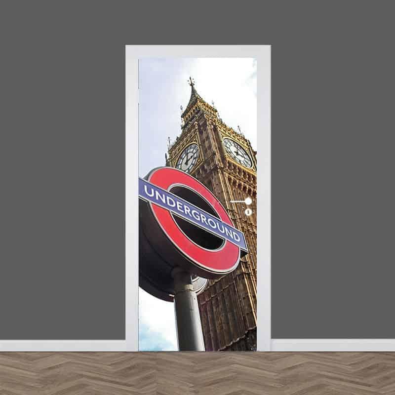 Deursticker London Underground
