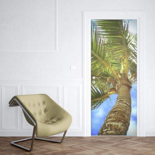 Deursticker Tropische palm 1