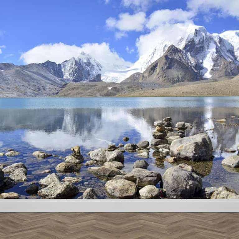 Fotobehang Meer in de bergen