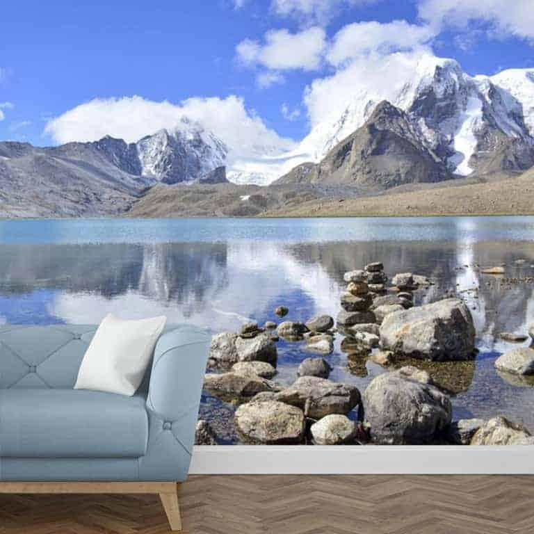 Fotobehang Meer in de bergen 1
