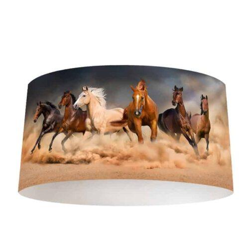 Lampenkap Galopperende paarden