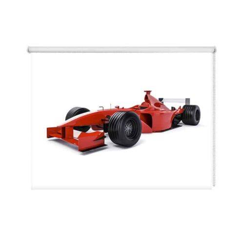 Rolgordijn Rode raceauto
