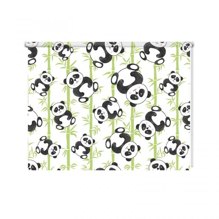 Rolgordijn Schattige panda's