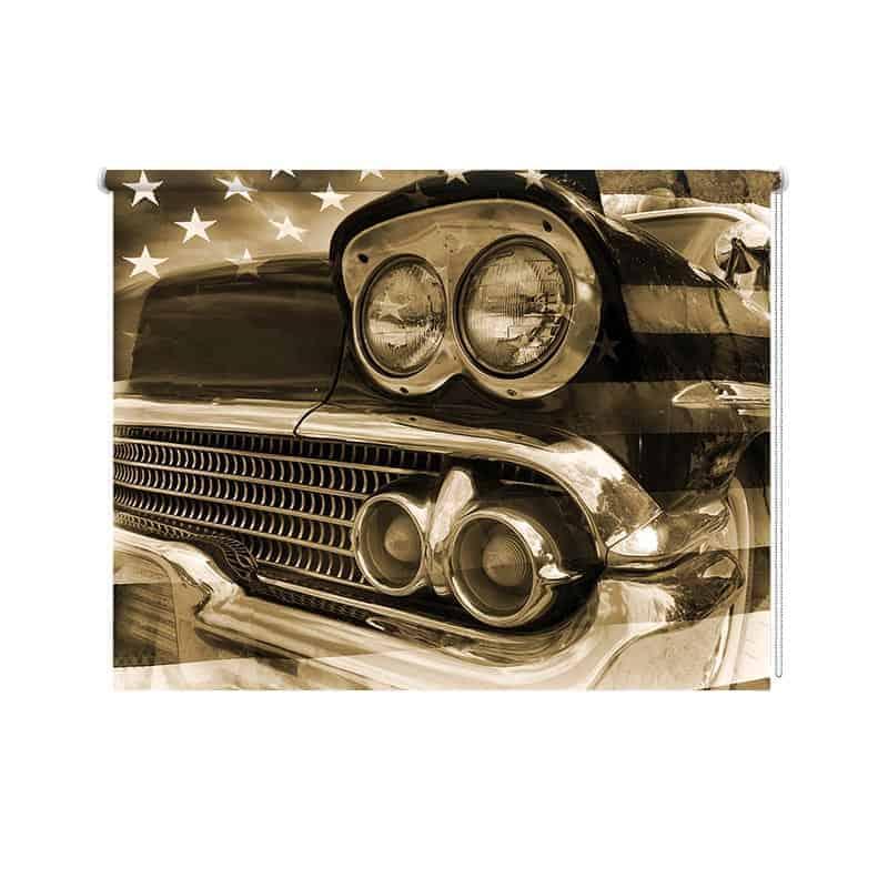Rolgordijn vintage auto