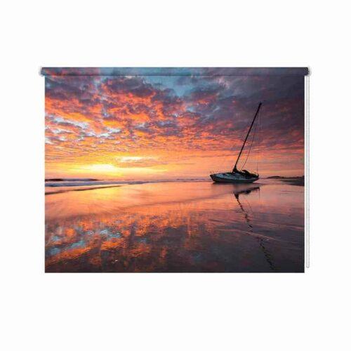 Rolgordijn Kleurrijke zonsondergang