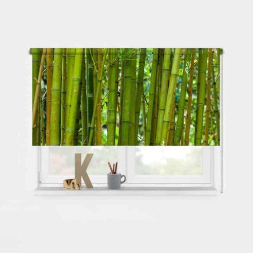 Rolgordijn Groene bamboe 1