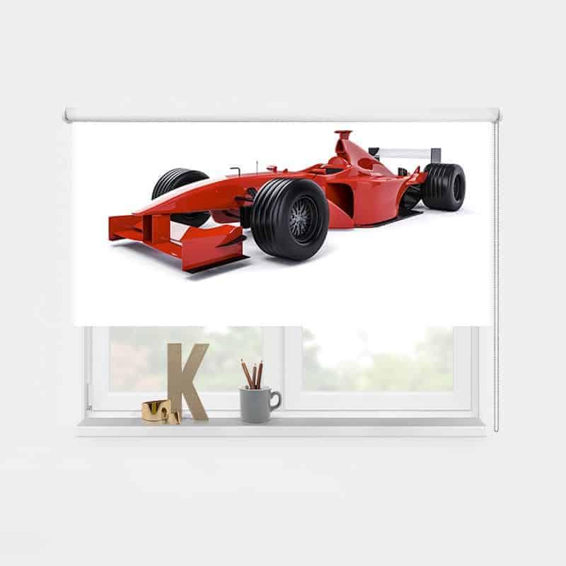 Rolgordijn Rode raceauto 1