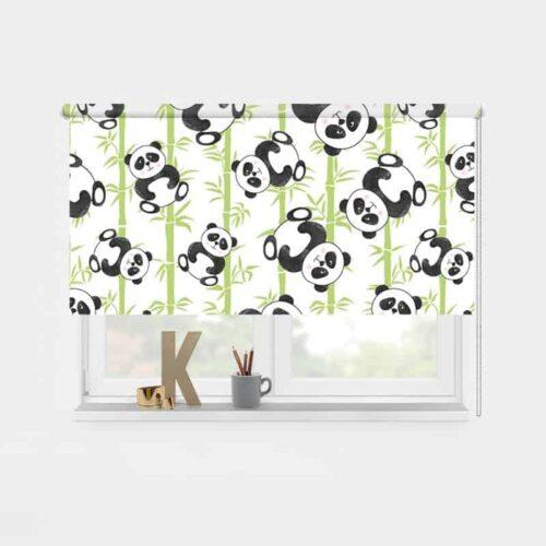 Rolgordijn Schattige panda's 1