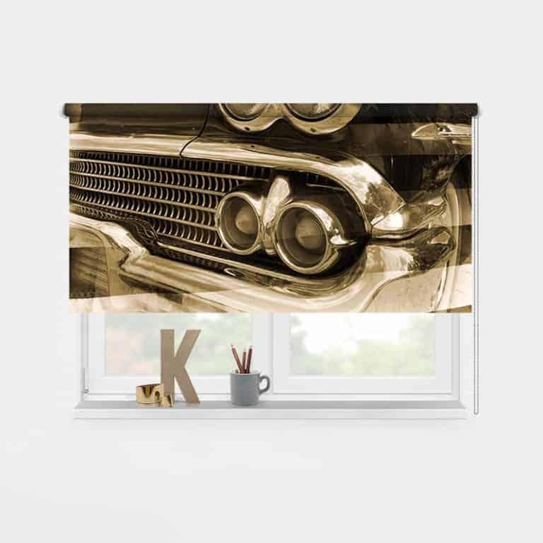 Rolgordijn vintage auto 1