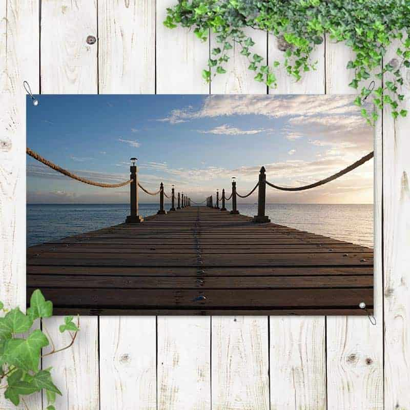 Tuinposter Zonsondergang bij zee 1