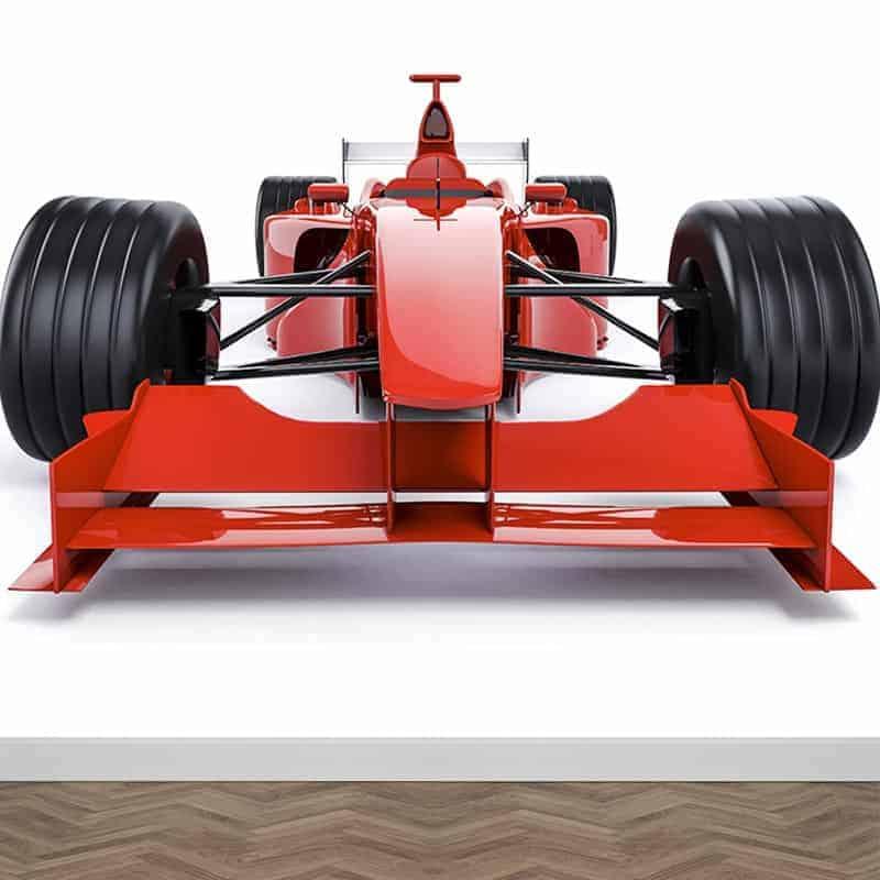 Fotobehang Rode raceauto
