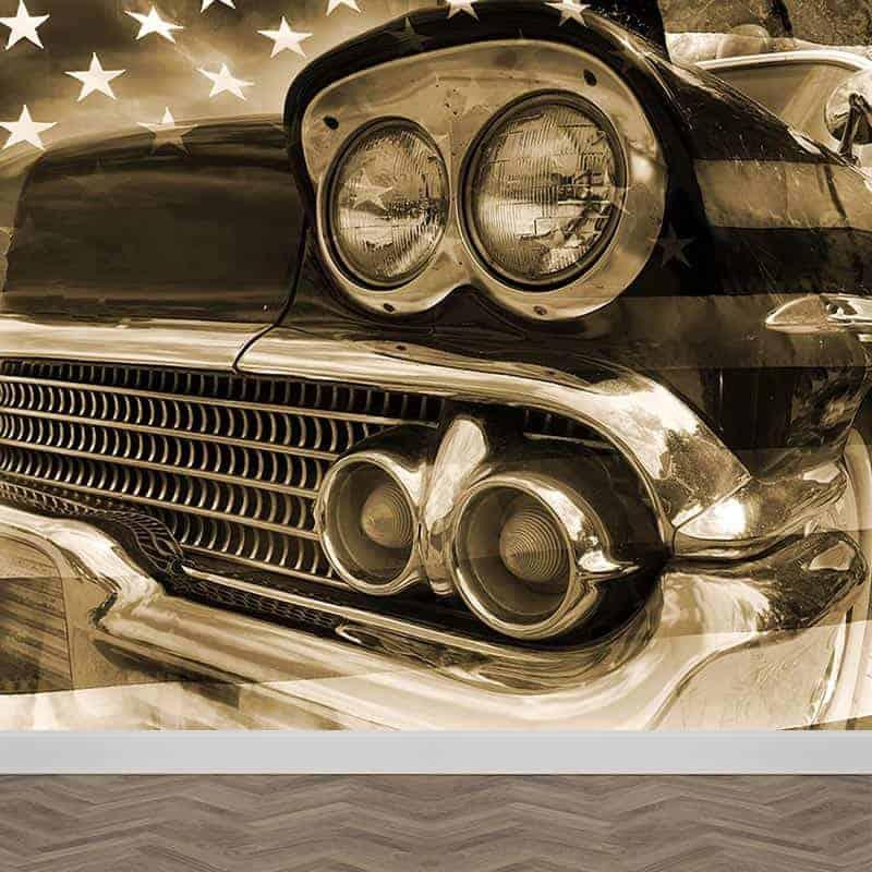 Fotobehang Vintage auto